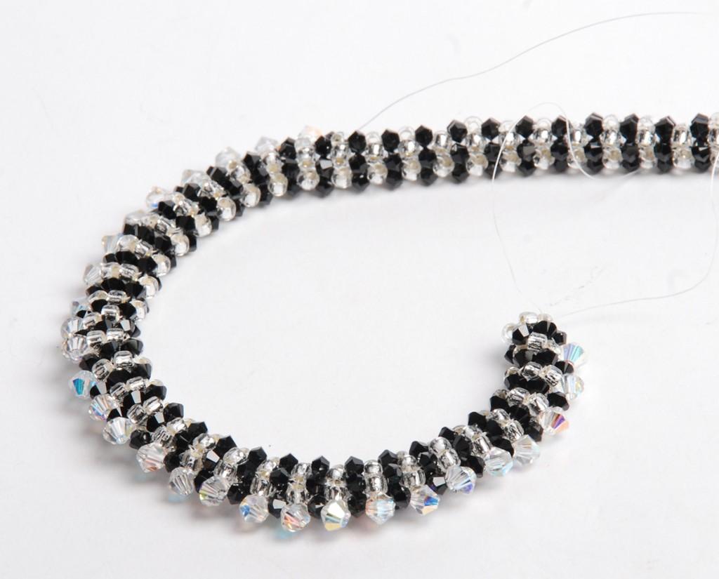 PRAW embellishment causing curve, PRAW baeded bracelet by Tammy Honaman