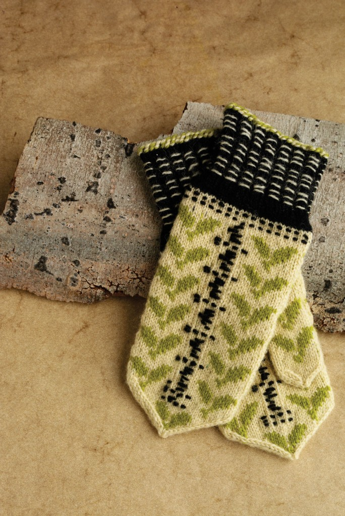 Latvian mittens were the inspiration for the Birch mittens