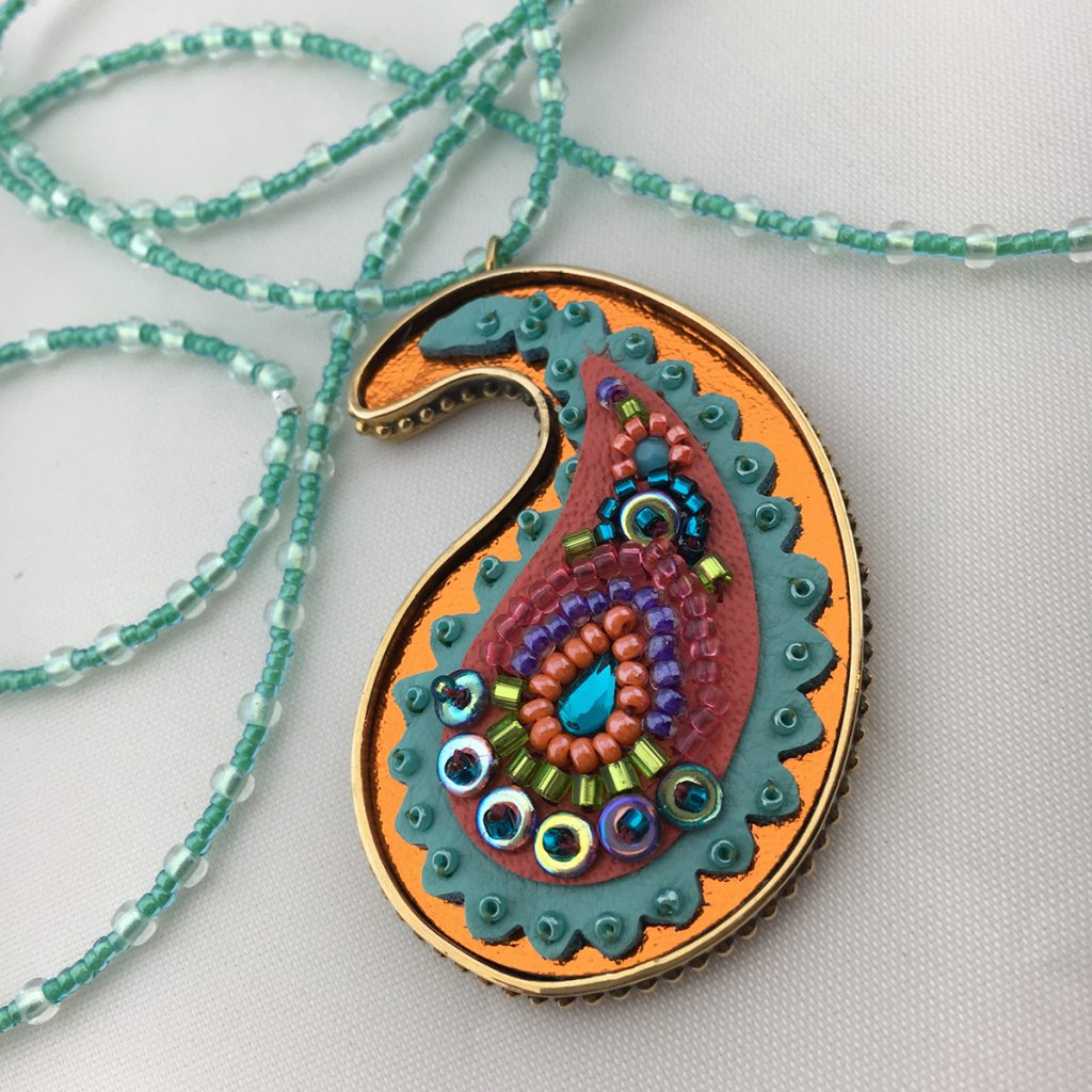 Beaded Die-Cut Leather Pendant Project, with Jill MacKay