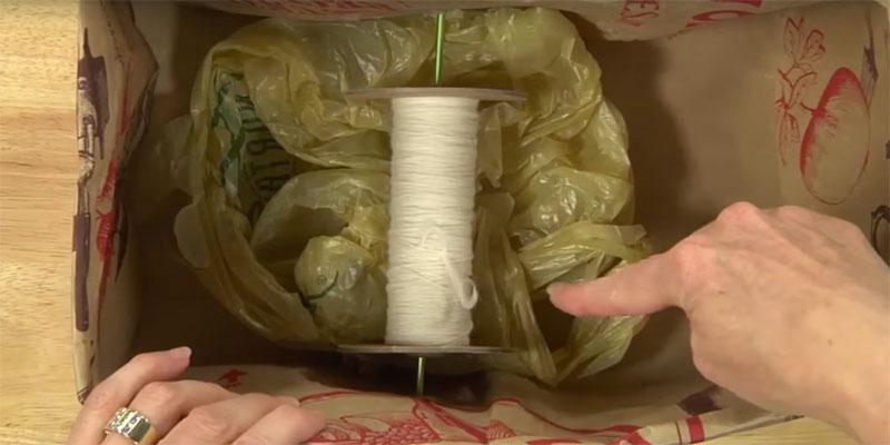 DIY Spinning Tools: Paper Bag Lazy Kate