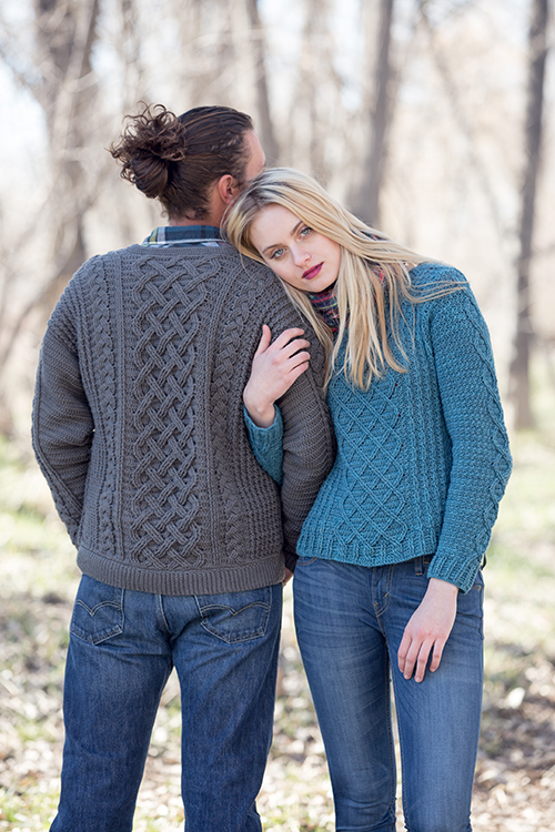 In the woods with Passaic Pullover and Temescal Cardigan