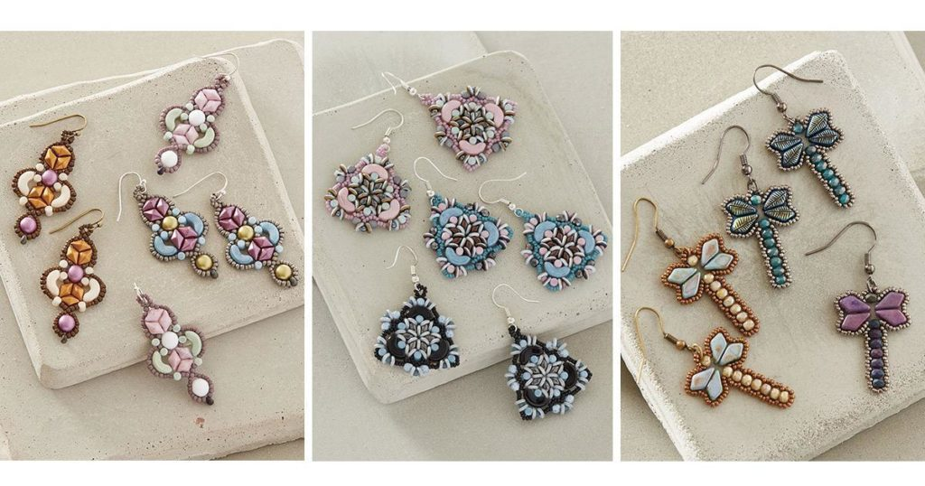 pastel bead weaving designs, beading trends