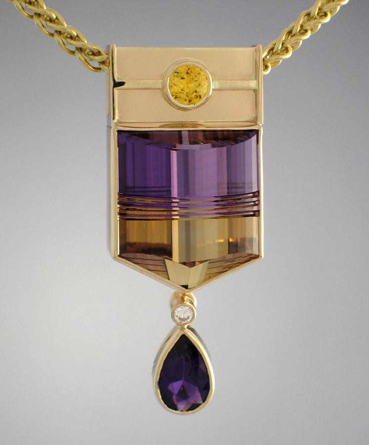 gemstone jewelry: ametrine pendant by Patrick Murphy