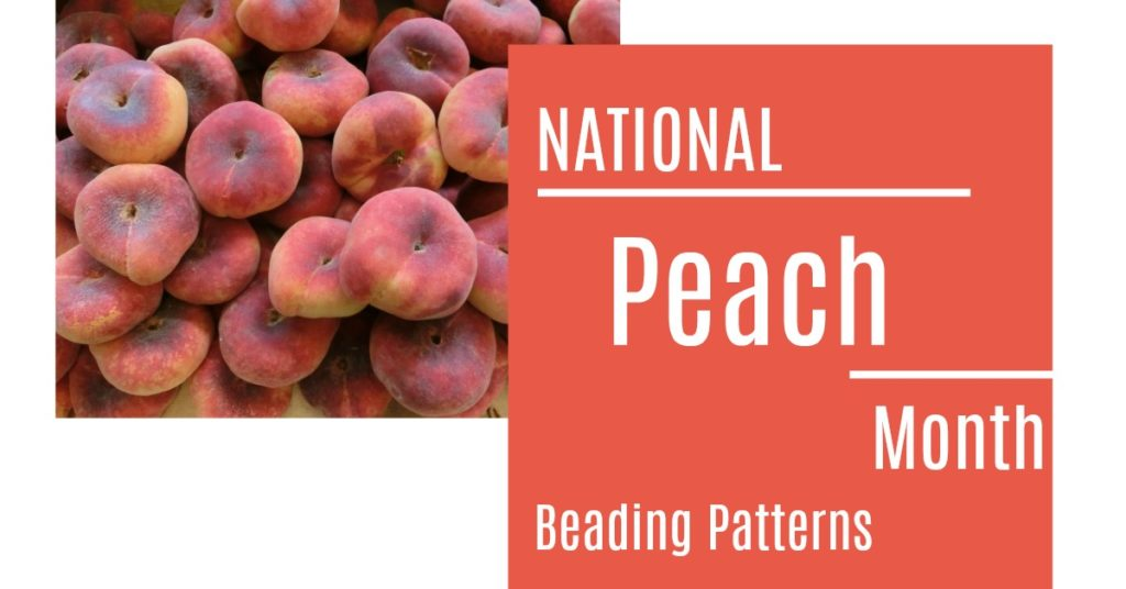 10 Peach Beading Patterns for National Peach Month