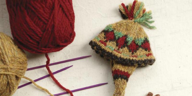 Peruvian Figure Purse Elements to Knit