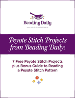 Learn everything about peyote stitch beading in this FREE ebook.