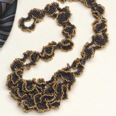 Peyote Stitch Companion, Golden-Edged Ruffles, by Shelley Nybakke, peyote stitch necklace