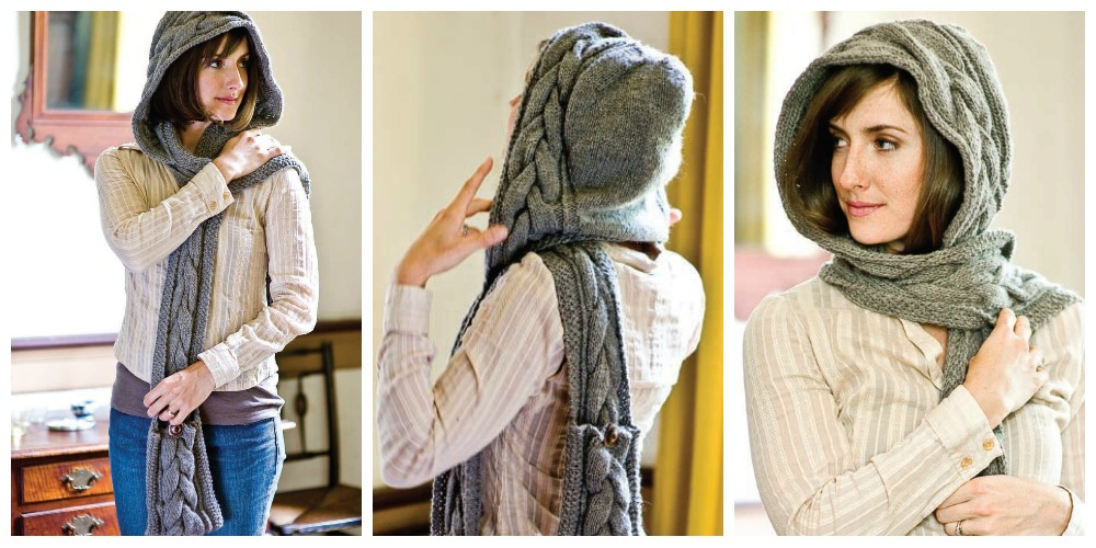 Dont Be Snood Y Why Hooded Scarves Are Still Cool In 2017 Interweave