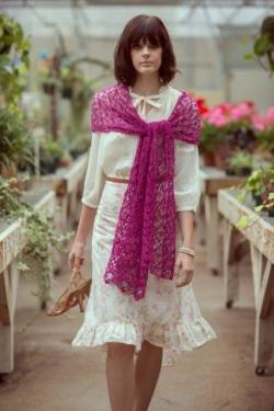 Pink Zazzle Shawl Crochet Pattern