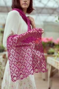 Pink Zazzle Shawl edge