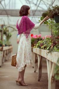 Pink Zazzle Shawl side
