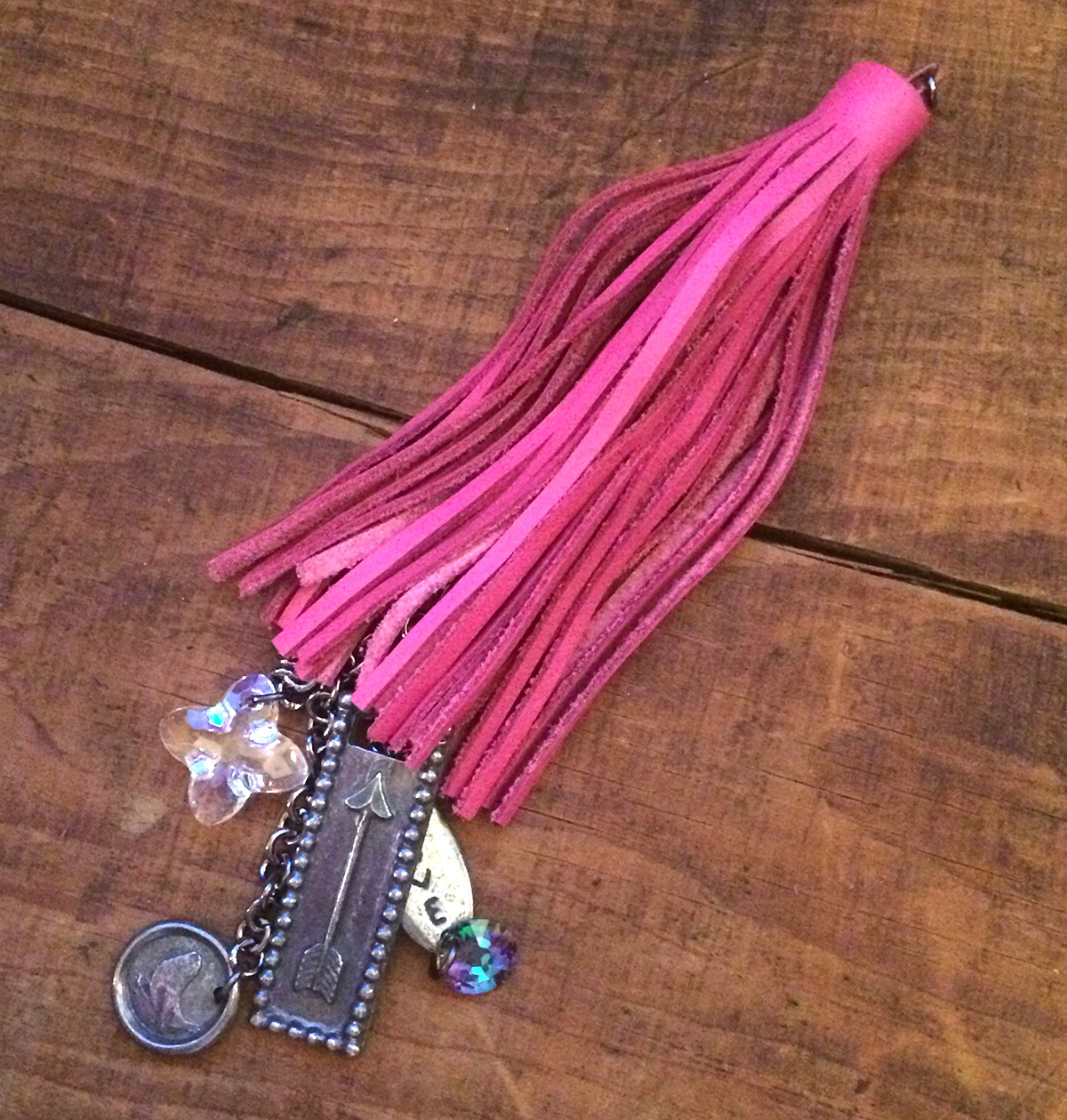 Mixed Meida Jewelry Tassel Project by Tammy Honaman 10 Favorite Pink Jewelry Projects, mixed media jewelry, beadweaving, beading, tassels