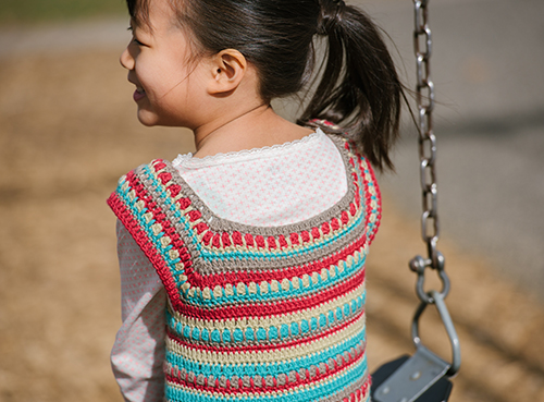 Neckline of the Play Day Crochet Dress