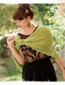 Greenfuse Crochet Shawl from Poetic Crochet
