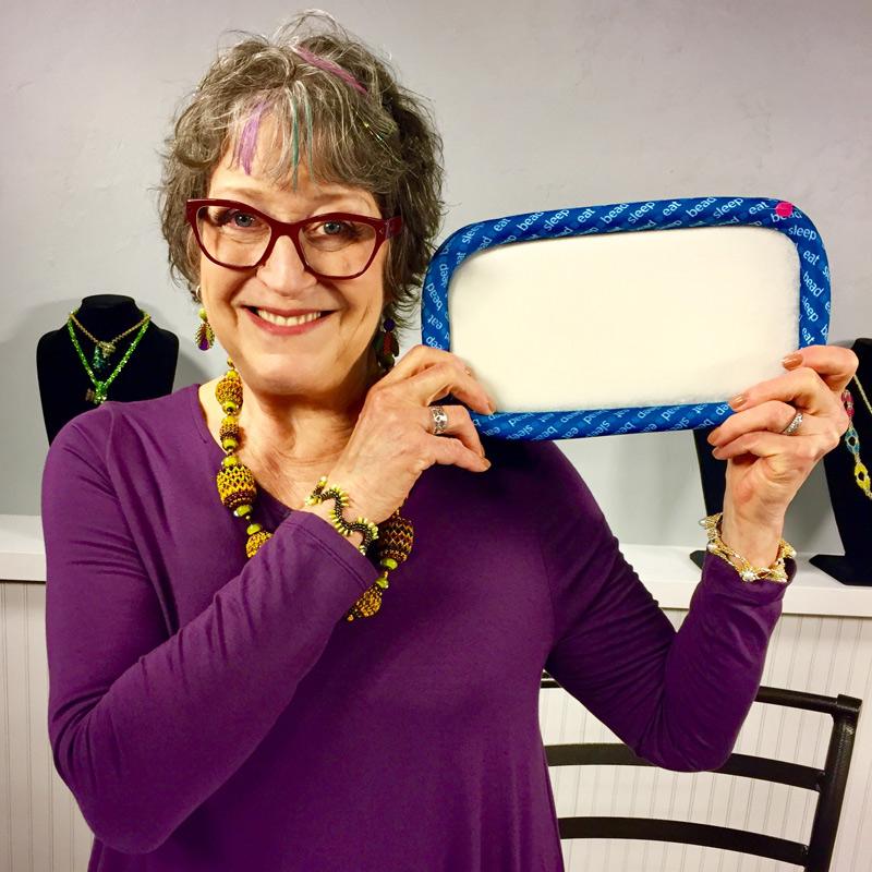 Bead weaving polygon stitch with Carol Cypher
