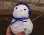 Yarn Hack: Pom-Pom Snowman!