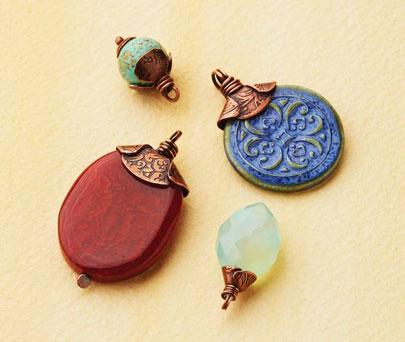 Poppy Bead Caps from Handmade Metal Findings