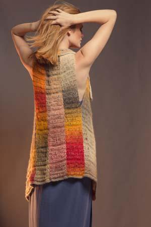 Back of Tunisian Crochet Prairiefire Vest