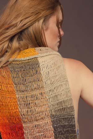 Prairiefire Vest Tunisian Crochet Collar