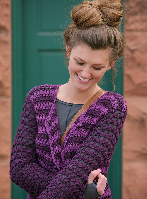 Lacy crochet sleeves on Prince Cardigan