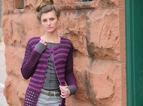 Crochet Stripes top the Prince Cardigan