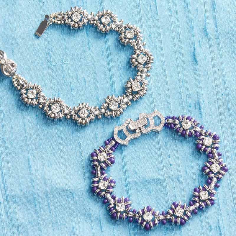 Beadwork presents Bead Royale by Cristie Prince, Queen of Diamonds Bracelet