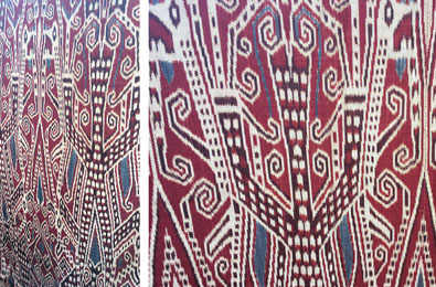 Examples of Pua Kumbu weaving from the 2016 Santa Fe International Folk Art Market. Photo by Shawn Salley