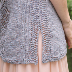 Bottom of Puck's Tunic from Interweave Knits Summer 2017
