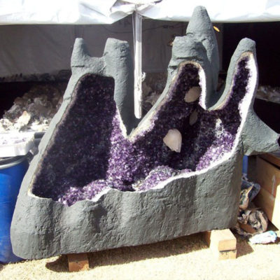 Amethyst geode as seen at the Pueblo during Tucson Shows.