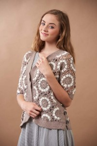Puffball Cardigan Front