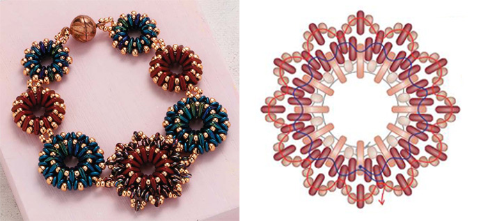 5 Beaded Jewelry Components You Need in Your Arsenal. QuadraRing component and beaded bracelet design.