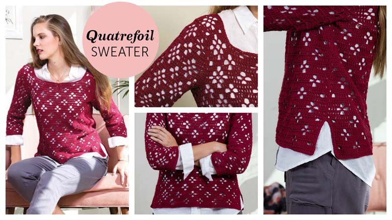 Quatrefoil-Sweater