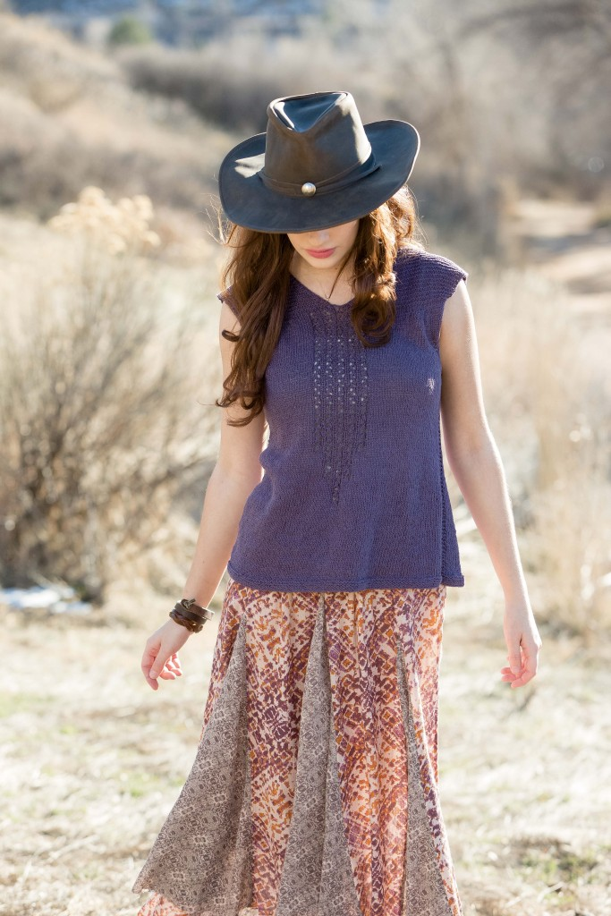 The Western Slope Tee is the perfect summer knit top.