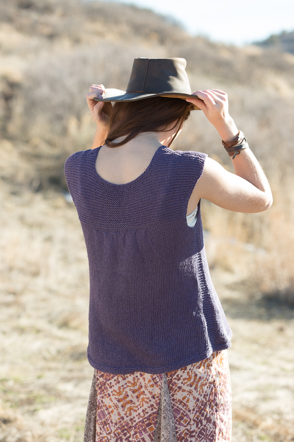 The Western Slope tee is a great knit top for summer.