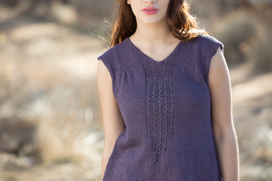 Knit the Western Slope Tee for a cool and swingy knit top.
