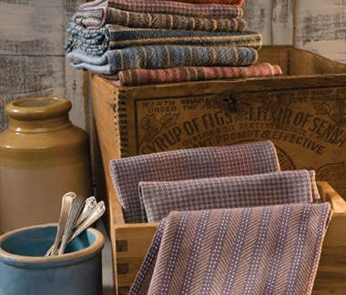 Towels woven by the Northwest Arkansas  Handweavers Guild