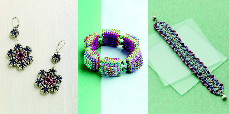 Handmade jewelry beadweaving designs for your love of creating. Designs perfect for Valentine's Day or any day.