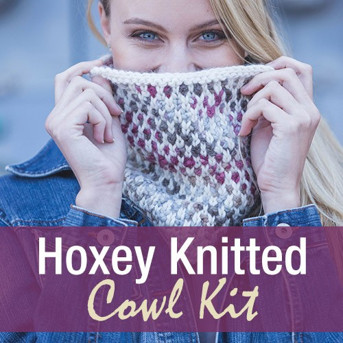 Hoxey Knitted Cowl Kit