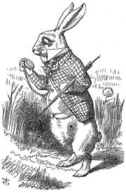 The White Rabbit wearing a waistcoat