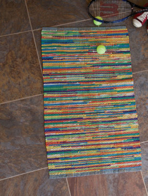 The Perfect Marriage T-Shirt Rug by Amanda Robinette is a great rag rug pattern found in our free Weaving with Rags eBook.