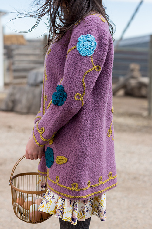 Side View of Rambler Coat Crochet Pattern