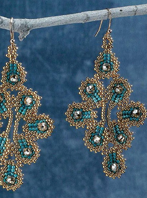 Ravenna Earrings, Liisa Turunen and Glenda Paunonen, beadwork designs