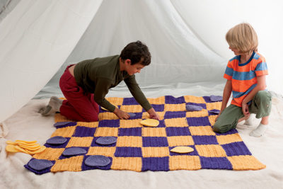Checkerboard crochet pattern from Love of Knitting Toys by Sarah Read