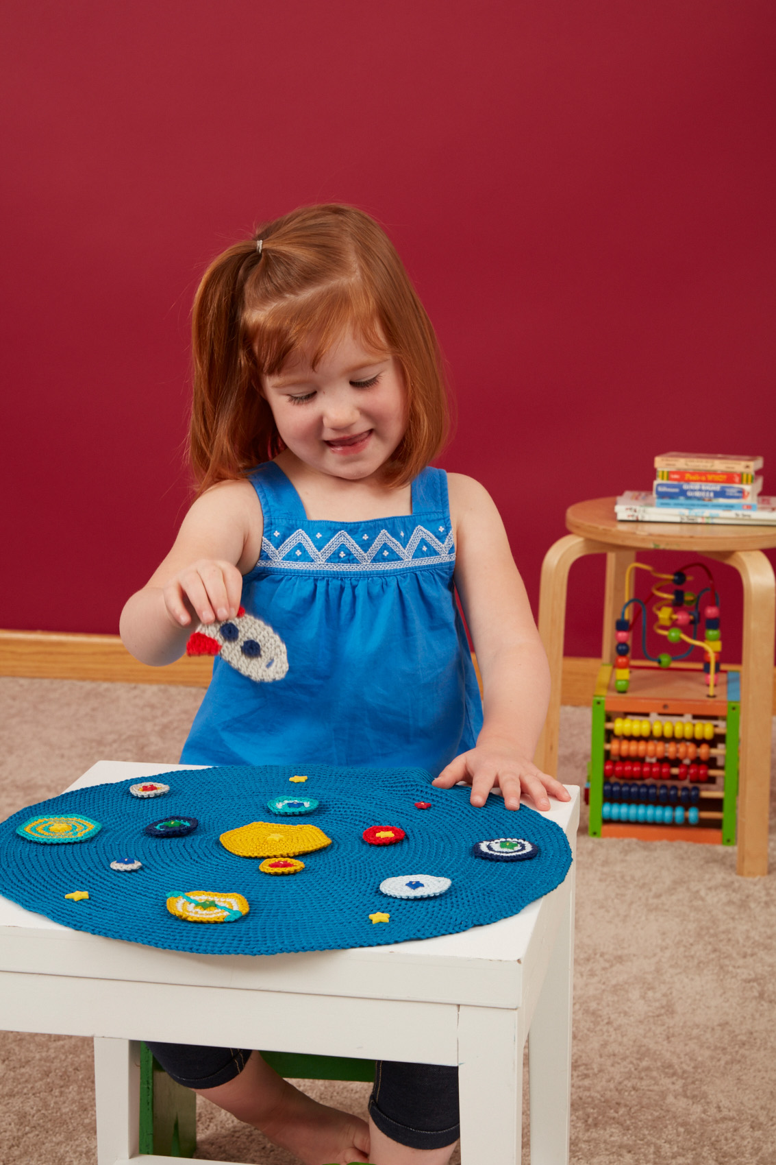 Lost in Space Activity Board crochet pattern from Love of Knitting Toys by Sarah Read
