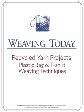 Learn everything about recycled yarn projects including upcycling plastic bag and T-shirt weaving techniques!