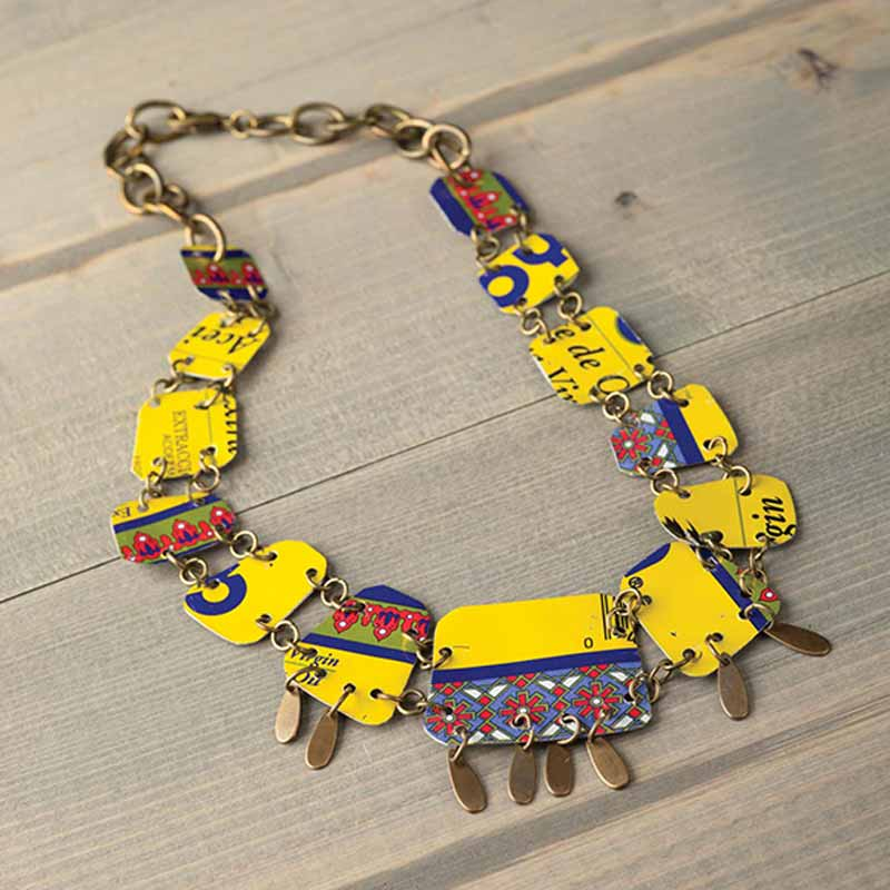 Jewelry making around the globe with anne potter interweave global style jewelry with anne potter immerse yourself in handmade jewelry making designs filled with recycled tin necklace solutioingenieria Image collections