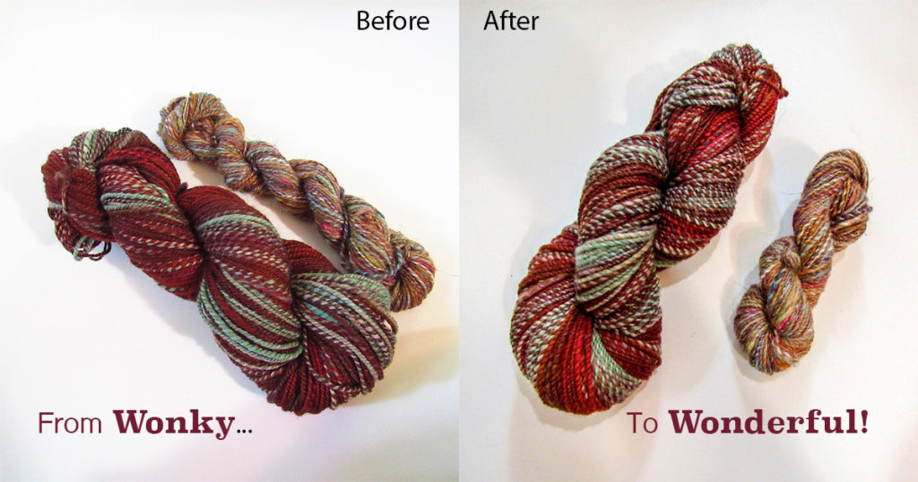 Her Handspun Habit: 3 Reasons to Reskein Your Handspun on a Niddy-Noddy