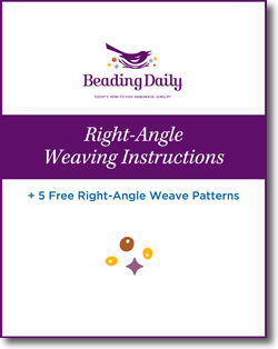Learning how to right-angle weave with beads is easier than you think with these 5 FREE right angle weave patterns.