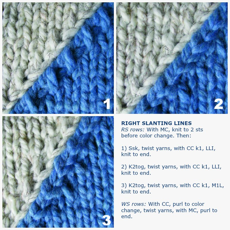 From Slant To Curve Shaped Intarsia Interweave