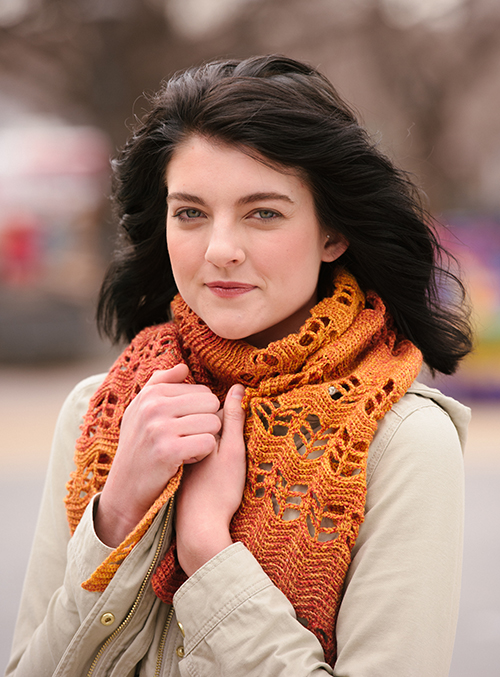 Bundle up with the ripple crochet scarf